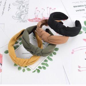 Set of 2 Expressionist' Single Knot Cloth Headband